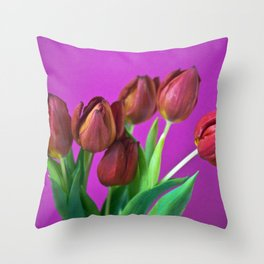 RED PASSION Throw Pillow