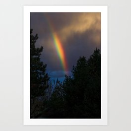 Rainbow At Dusk Art Print