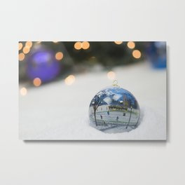 Boston Common Christmas Ornament Metal Print