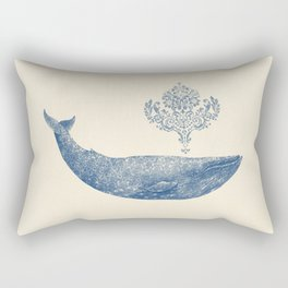 The Damask Whale  Rectangular Pillow