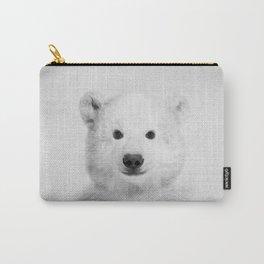 Polar Bear - Black & White Carry-All Pouch