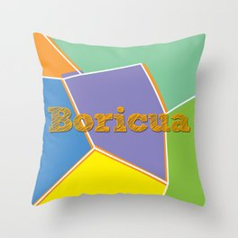 Boricua, Puerto Rico Throw Pillow