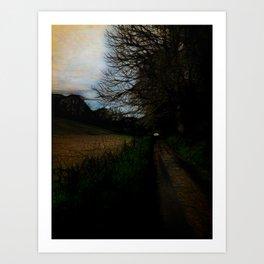 Wet Road Dawn In Spring Art Print