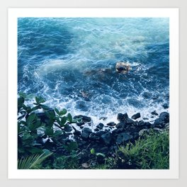 Exquisite Tropical Ocean Cove in Maui, Hawaii Art Print