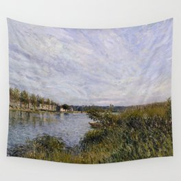 Alfred Sisley - View of Saint-Mammès, 1880 Wall Tapestry