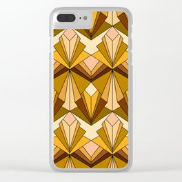 Art Deco meets the 70s Clear iPhone Case