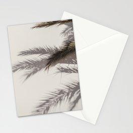 Palm Leafs Shadow Wall Stationery Cards