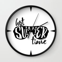Hot Summer Time Wall Clock