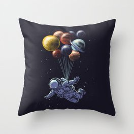 Space travel Throw Pillow