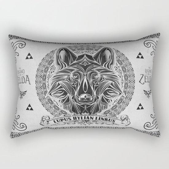 Legend of Zelda Twilight Wolf Link Line Art Rectangular Pillow