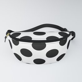 Black Large Polka Dots Pattern Fanny Pack