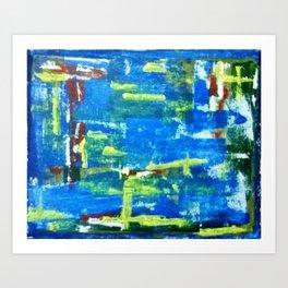 Blue Influence Art Print