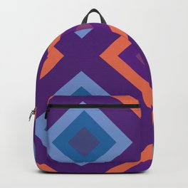 Purple And Blue Diamond Shade Geometric Patterns Backpack