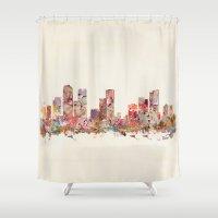 denver Shower Curtains featuring denver colorado by bri.buckley