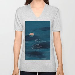 Cling To Joy, Bold, Audacious Joy That Looks For Light In Everything Even In The Waiting. Unisex V-Neck