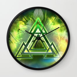 Sacred Geometry - Equilateral Triangle 05 Wall Clock