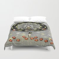 cancer Duvet Covers featuring Cancer by Lady Amethystine