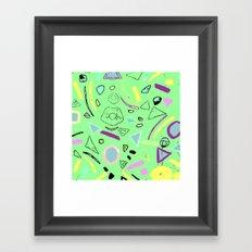80's pattern  Framed Art Print