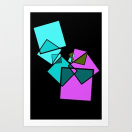 moving squares -13c- Art Print