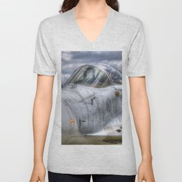 Mig-29 Jet Fighter Unisex V-Neck