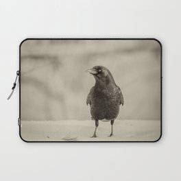 Betsy's Crow In The Snow Laptop Sleeve