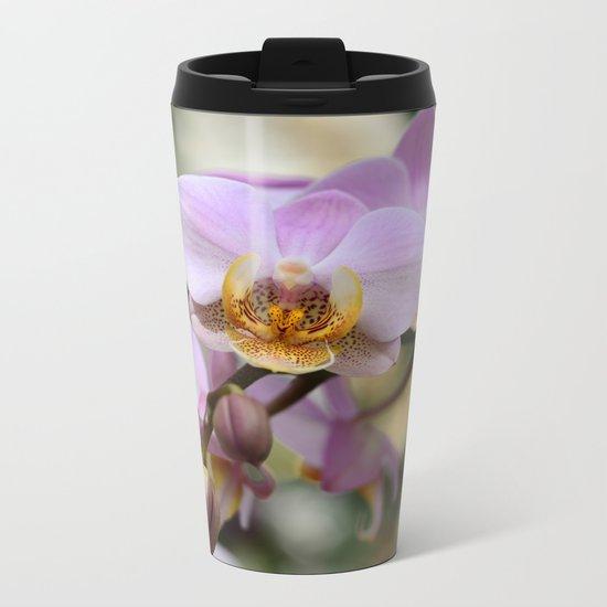 Orchids Metal Travel Mug