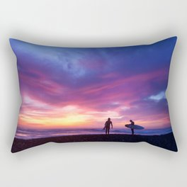 Surfer's Sunset Rectangular Pillow