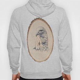 Eagle on Wood Hoody