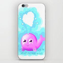 Cute Whale iPhone Skin