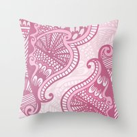 henna Throw Pillows featuring Henna Pattern by ItsJessica