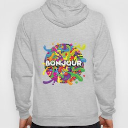 Colourful Bonjour Hoody