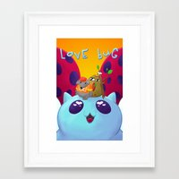 catbug Framed Art Prints featuring Love Bug by nickwixon