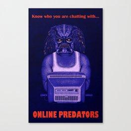 Online Predator PSA Canvas Print
