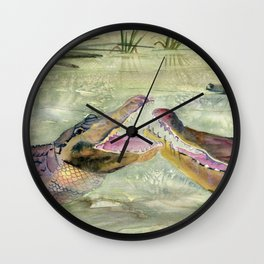 Alligator Study  Wall Clock