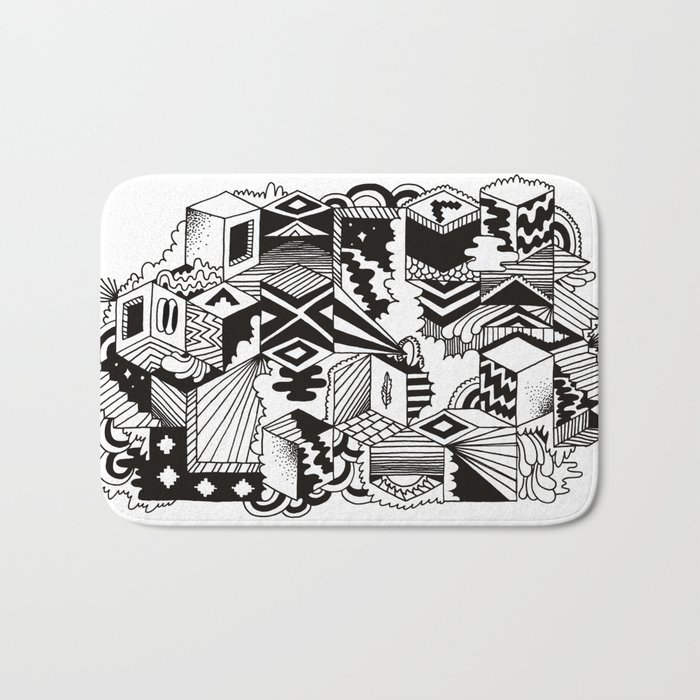 Cube-ular Bath Mat