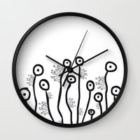 aliens Wall Clocks featuring Aliens by franzgoria