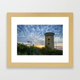 WWII Lookout Tower Framed Art Print