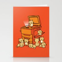 face Stationery Cards featuring The Original Copycat by Picomodi
