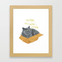Boxcat Framed Art Print