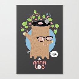 Anna Log Canvas Print