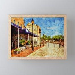 Fells Point Promenade, Historic, Baltimore, Maryland  Framed Mini Art Print
