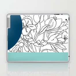 VESSEL - Floral Ink in Peacock & Mint - Cooper and Colleen Laptop & iPad Skin