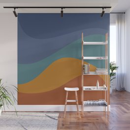 Abstract Color Waves - Vibrant Rainbow Wall Mural