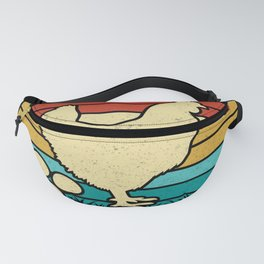 Chickens Poops Breakfast - Funny Vintage Fanny Pack