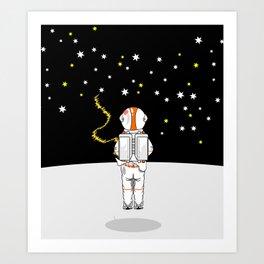 Astronaut Caught Short Art Print