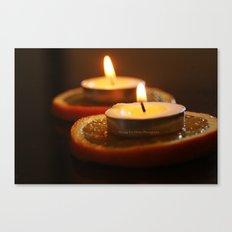 Orange Candles Canvas Print