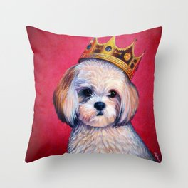 Shih-Tzu Pet Portrait - Animal Portrait Series Throw Pillow
