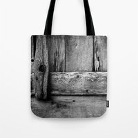 wooden Tote Bags featuring wooden by Bonnie Jakobsen-Martin