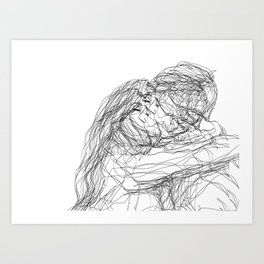 make-out? (B & W) Art Print