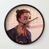 haikyuu Wall Clocks featuring Haikyuu!! Azumane Asahi by sushishishi